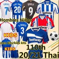 الرجال + أطفال 20 21 DePortivo Alavés Soccer Jersey 2021 Alaves 100th Centernerment Camiseta de Fútbol Pere Pers Lucas Joselu Toots Shirts