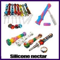 실리콘 Nectar 수집가 GR2 티타늄 네일 14.5mm 집중 벌꿀 Dab 짚으로 실리콘 오일 조작과 미니 워터 파이프 0266152