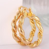 18K Gold Plated Rose Plateds Woman Hoop Earrings Fashion Party Jewelry Birthday Gifts Top Quality