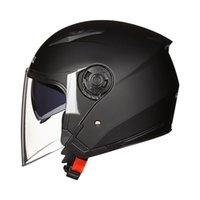 오토바이 헬멧 안개 안개 헬멧 더블 렌즈 하프 모터 카시주기 승마 헤드 보호 기판