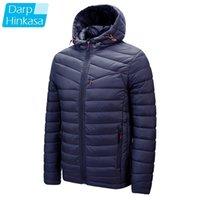Darphinkaşa Kış Rahat Katı Renk Kapüşonlu Parka Ceket Kalın Sıcak Erkekler Ceket 210222