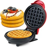 Electric Skillets Mini Waffle Maker Machine Waffles Panini Cake Potato Pancake Breakfast Non Stick Pot Easy To Clean Kitchen Tool
