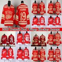 Detroit Red Wings 13 Pavel Datsyuk 40 Henrik Zetterb 19 Steve Yzerman 71 Dylan Larkin 9 Gordie Howe Vermelho Hóquei Jerseys