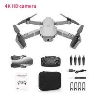 E68 RC Drones GPS Drone With 4K Wifi HD Wide Camera retail box Foldable Mini Drone for kids