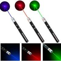 5MW Láser Puntero Pen Rojo 650nm Verde 532NM Púrpura 405nm Punteros láseres Potente Oficina de enseñanza usando plumas de lápiz