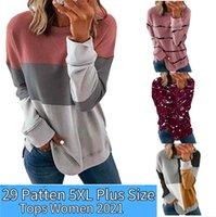 T-shirts T Shirt Women 5Xl Korean Casual Fashion Long Sleeve Tops 2021 Autumn Spring Roupas Plus Size Femininas Gordinha Blusas