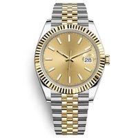 Mens Sports Horloges Automatische Mechanische Mode Business 41 mm Roestvrij staal Goud 2813 Beweging Waterdicht 30m Horloge