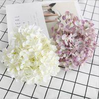 Decorative Flowers & Wreaths Air-dried Flower Hydrangea Branch Artificial DIY Wedding Arrangement Dried Home Decoration Fake