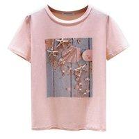 Women's T-Shirt Summer Fashion Cartoon Print Women Tshirt Casual Soft Tops Tee Cute Harajuku Femme