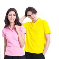 Short sleeve lapel cotton polo advertising shirts custom mad...