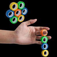 Neuheit EDC Finger Zappeln Spinner Ring Unzip Armband Fingerspitze Rotierende Spinner Gyro Stress Reliefspinner Magnetische Dekompression Spielzeug