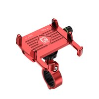 Bicycle & Motorcycle Phone Mount, Aluminum Alloy Bike Handlebars Cellphone Holder with 360° Rotation for iPhone 11 12 Pro Max XR Xs 8 Plus, Samsung S20 GPS Mount 4-7 Inch