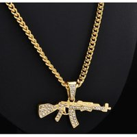 Pendant Necklaces Fashion Choker For Women 2021 Gun Cross Crystal Chain Necklace Men Punk Chains Jewelry Gift