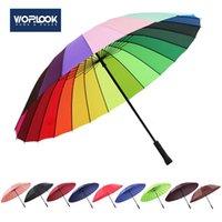 Regenschirme Doppelschicht Regenbogen Regenschirm Anti-Receiver Gerade Stab Wasserdicht Wetter