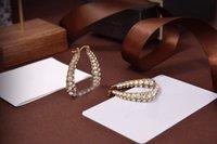 2021 Fashion Earrings European and American Female Christmas Alloy Exaggerated Stud Earrings Female Circle Pearl Designer Earrings