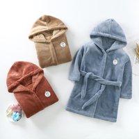 Blankets & Swaddling Kids Baby Robe Flannel Hoodies After Bath Girl Boys Sleepwear Colorful Towel Soft Bathrobe Pajamas Children's Clothing