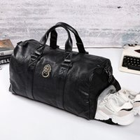 Duffel Bags Multifunction Fashion Brand Designer Lion's Head Business Trip Travel Bag For Man Outdoor Genuine Leather Shoe Duffle