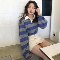 Disputé 2021 Nouveau Jersey Femme Pullover Femmes Top Automne Harajuku Retro Loose École Pull Tops Jjle