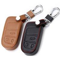 Custodie chiave in pelle Cover Fob per Fiat Dodge Charger DART Challenger Durango Jeep Grand Cherokee Chrysler 300 Smart Keys