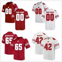 Wisconsin Badgers 대학 저지 와트 Jonathan Taylor Russell Wilson James White Montee Ball Football Stitched Jerseys 사용자 정의 모든 이름 번호