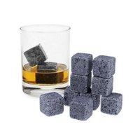 180pcs / 20set de haute qualité pierres naturelles 9 pcs / ensemble pierres de whisky pierres de refroidisseur de pierres de pierre de pierre de pierre de pierre de verre avec le magasin de velours jlltus insyard