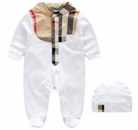 2021 Baby Pagliaccetti Plaid Abbigliamento Set di abbigliamento con cappuccio 0-1Y Birthday Cotton Romper Newborn Body Body Body Bambini Bambini in due pezzi Due pezzi Sulti da arrampicata Abbigliamento