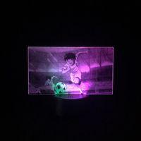 Captain Tsubasa 3D LED Night Light Football Fans Gift Atmosphere Desk Lamp Two-Color Club Room Decor Anime Nightlight