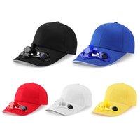 Toptan Güneş Enerjisi Şarj Şapka Kap Soğutma Fanı Golf Beyzbol Spor Yaz Açık Güneş Snapback için USB Gadgets