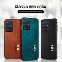 Luxury Leather Texture Case for Samsung Galaxy S21 S20 Ultra A51 A71 5G Fashion Coque Protection Cover Fundas for Galaxy Note 20 Ultra