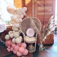 더블 블러쉬 살구 풍선 garland 먼지가 많은 핑크 글로스 중립 무광택 풍선 아치 생일 베이비 샤워 파티 장식 용품