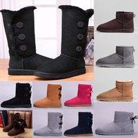 Fabryka Wyprzedaż Nowa Australia Klasyczne Wysokie Zimowe Buty Prawdziwa Skóra Bailey Bowknot Damska Bailey Bow Snow Buty Buty Boot 36-41
