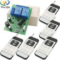 Smart Home Control wireless 433MHz Interruttore remoto DC 6V 12V 24 V 2CH 10A Modulo ricevitore RF 1000m Trasmettitore per il motore del garage Scorronato