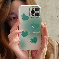 Love Heart Case for iPhone 12 11 Pro Max XR XS 7 8 Plus Full Protective Soft Gradient Color Back Cover Shockproof