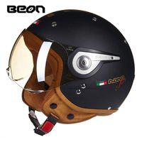Motosiklet Kaskları Dört Mevsim Sürme Kask Beon ABS Motobiker Motocross Scooter Elektrikli Başlığı Erkekler Kadınlar için M l XL