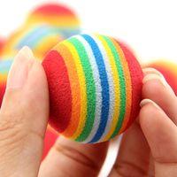 Diametro Pet Toy 35mm Interessante Pet Toy Toy Dog and Cat Toys Super Carino Rainbow Ball Cartoon Peluche Peluche 186 S2