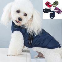 كلب سترة مع تسخير ماء معطف القطن الشتاء الملابس الدافئة الزي سترة للكلب المتوسطة الصغيرة JK2012XBB
