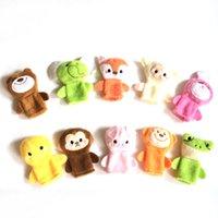 Tiromas de dedo Animales Juguetes Lindo Dibujos animados Relleno Mano Mano Puppet Toy Children M3657