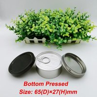 Aluminum Tin Cans Customized Bottle Box SmellProof Anti Leakage Packaging Container Tinplate Case Machine Sealed Hand Pressed Can Three Sizes with White Black Lid