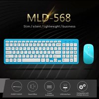 Keyboard Mouse Combos Silent Ultra-thin Chocolate Wireless Combo Set Kits Number Key For Tablet Laptop Mac Desktop PC TV Office