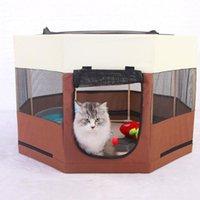 أقلام بيوت الكلاب المحمولة قابلة للطي خيمة كلب البيت قفص القط بلاي جرو بيت الأسوار في الهواء الطلق