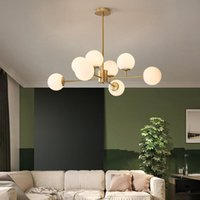 Chandeliers Nordic LED Chandelier Modern Living Room Dining Kitchen Ball Ceiling Hanging Lamp For In The Hall Loft Home Decor Light Fixtures