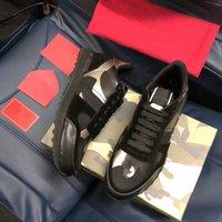 Mulheres homens amantes sneakers tênis treinadores starstudded couro rock rock sapatos camo camuflagem sapatilhas e studded rockrunner casual xg18051303