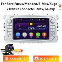 Android 10 GPS Car Radios 2 Din Car Multimedia player 7'' Audio DVD Player For Ford Focus S-Max Mondeo 9 GalaxyC-Max Mic Cam-in