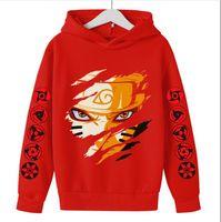 DOP-Versand neue Kinder Kleidung Harajuku Anime Naruto Kakashi Kostüm Jungen Hoodie Sweatshirt Kinder Mädchen Tops Kinder Kleidung Mädchen Sweatwaren