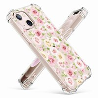 Cute Vegetation Flower Floral Phone Cases Clear Soft Silicone Transparent For iphone 11 12 13 Pro Max XR X XS 7 8 Plus Shockproof Protect Cover