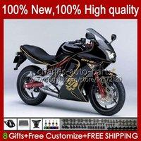 Kit de justo para Kawasaki Ninja 650R Skull Golden ER 6F ER 6 F ER6F-650R 29HC.5 ER6 F 650 R ER6F 06 07 08 ER-6F 2006 2007 2008