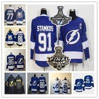 Tampa Bay Lightning Jersey Steven Stamkos 2021 Stanley Cup Campeonato final 86 Nikita Kucherov 21 Brayden Point 88 Andrei Vasilevskiy Victor Hedman Tyler Johnson