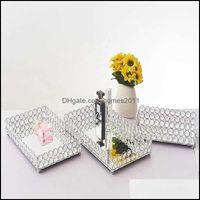Boxes Bins Storage Housekeeping Organization Home & Gardendecorative Crystal Cosmetic Decorative Mirrored Jewelry Trinket Organizer Trays Va
