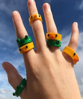 Hars Ring 3D Animal Chick Frog Strawberry Cherry Cute Girl Sieraden voor Kerstcadeau Groothandel