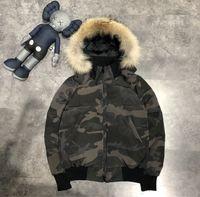 2021 Зима Parka Верхняя одежда Канада Белая утка пуховик Топ Качество Вольф Мех с капюшоном Hiver Doudoune Tops